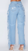 Dominique Fringe Distressed Jeans