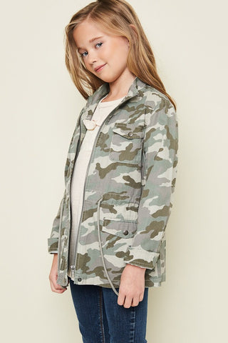 Jazlyn Girls Camo jacket