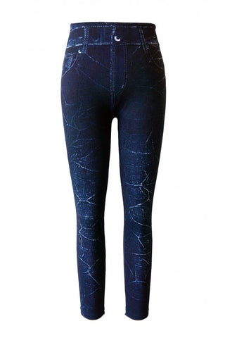 Marci Girls Faux Jean Leggings