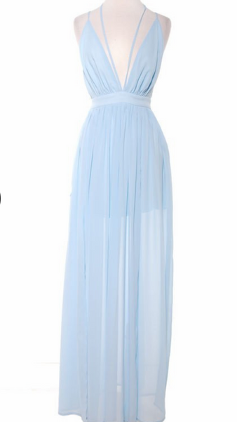 Cinderella Babe Chiffon Maxi Dress