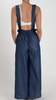 Keisha Denim Overall Styled Jumpsuit W/Removable Straps