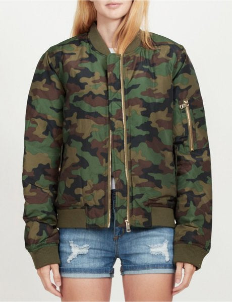 Chrissy Camouflage Flight- Bomber Jacket