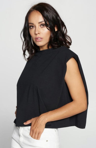Kelsey Padded Top in Black