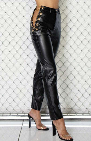 Regina Faux Leather Pants