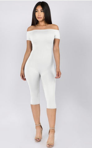 Stella Bodycon Romper in White