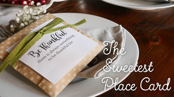 The Sweetest Place Card DIY