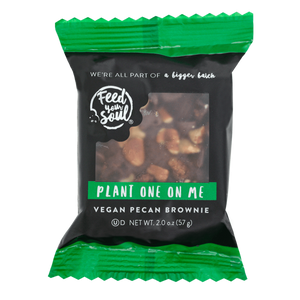 Plant One On Me Vegan Brownies Bulk 60 pc box (pre-wrapped)