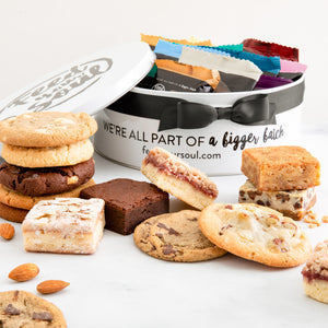 Sweet Thank You Cookie and Brownie Tin (24 pc)