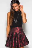 Metallic Flare Skirt