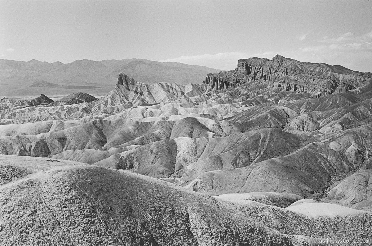 Zabriskie Point in Death Valley. Shot on 35mm film HP5 and Leica M6