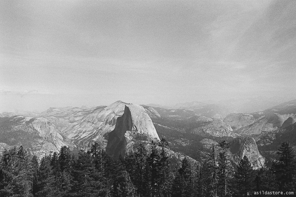 Yosemite Valley View from the Sentinel Dome. Shot on 35mm film HP5 and Leica M6