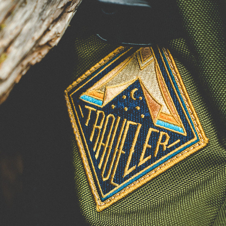 Traveler adventure iron on embroidered patch