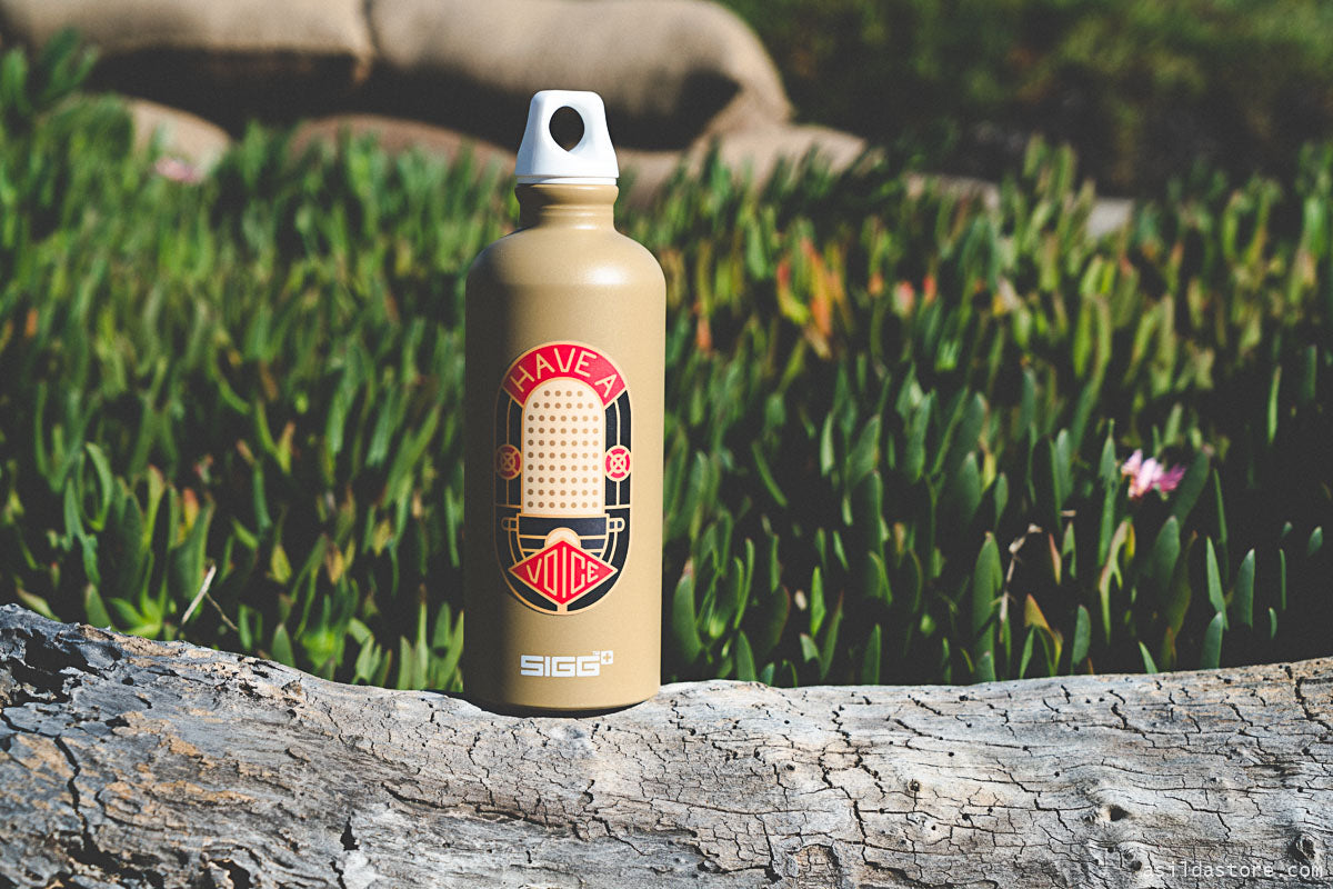 SIGG water bottle with stickers