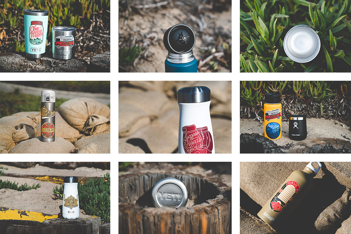 Insulated Water Bottle Brands Collage