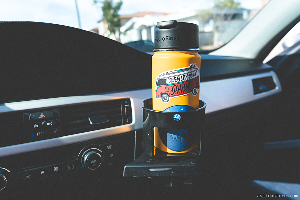 Large bottle car cup holder adapter