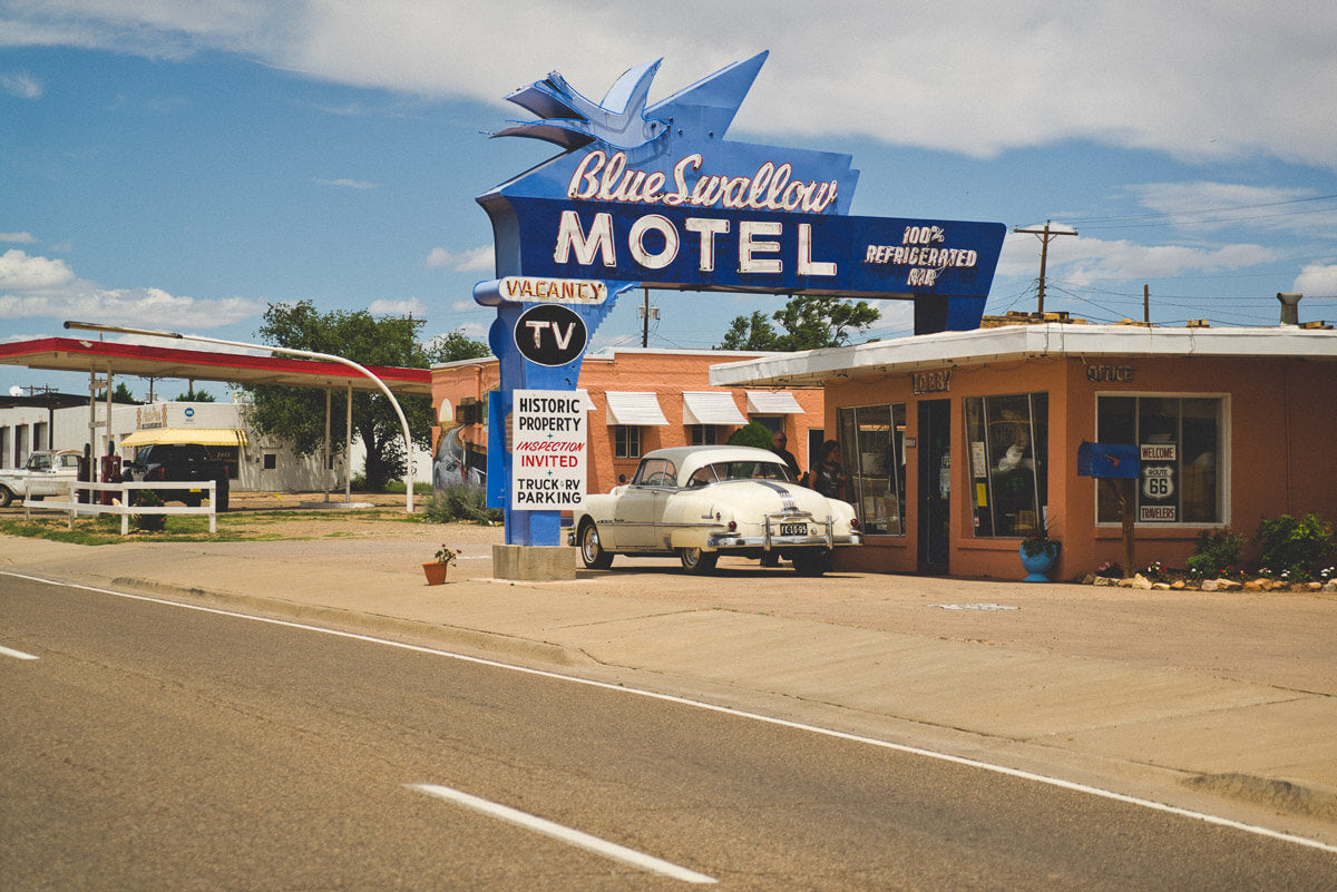 Route 66 Attractions: Blue Swallow Motel