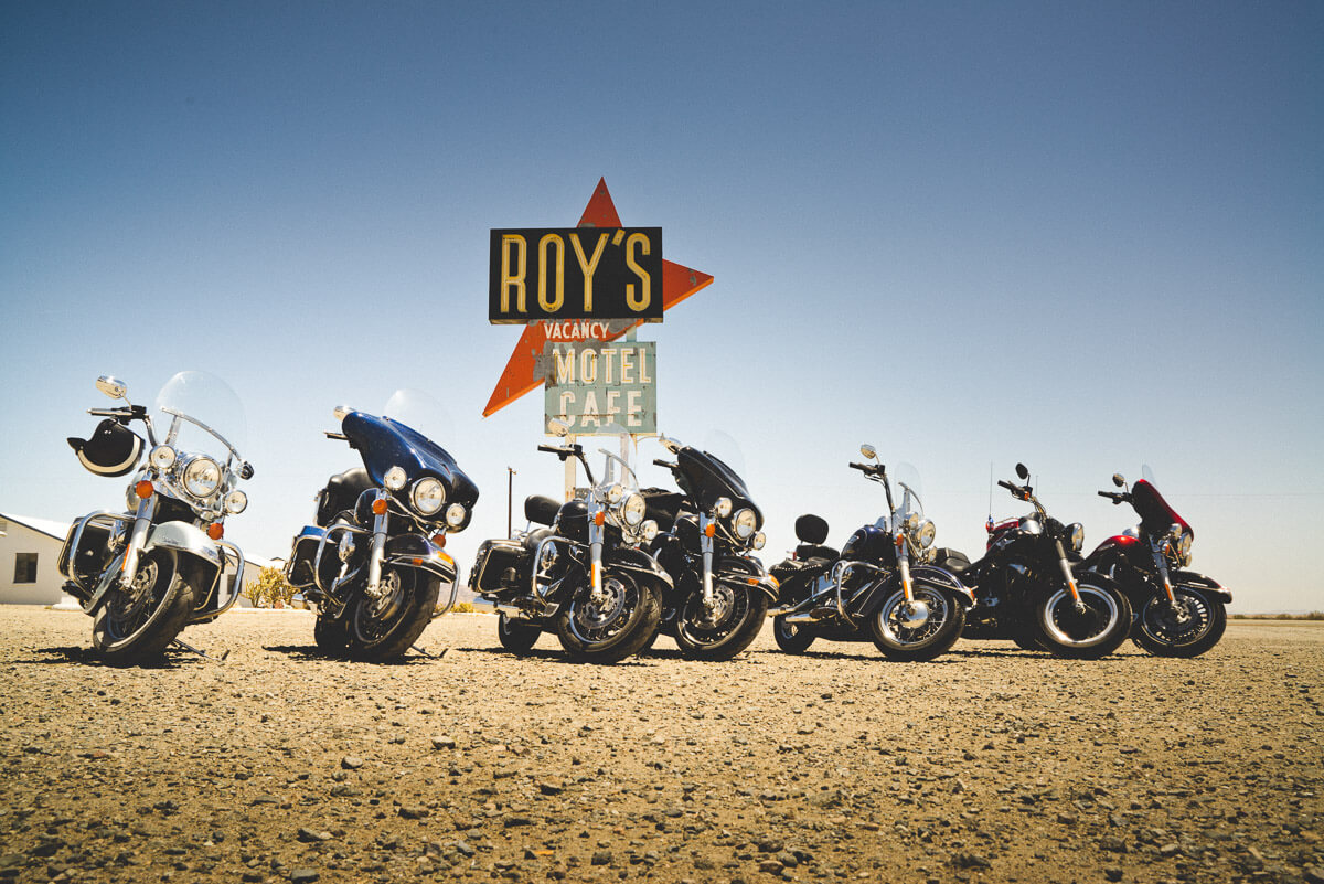 Route 66 Attractions: Roy's Cafe, Amboy CA EagleRider Tour