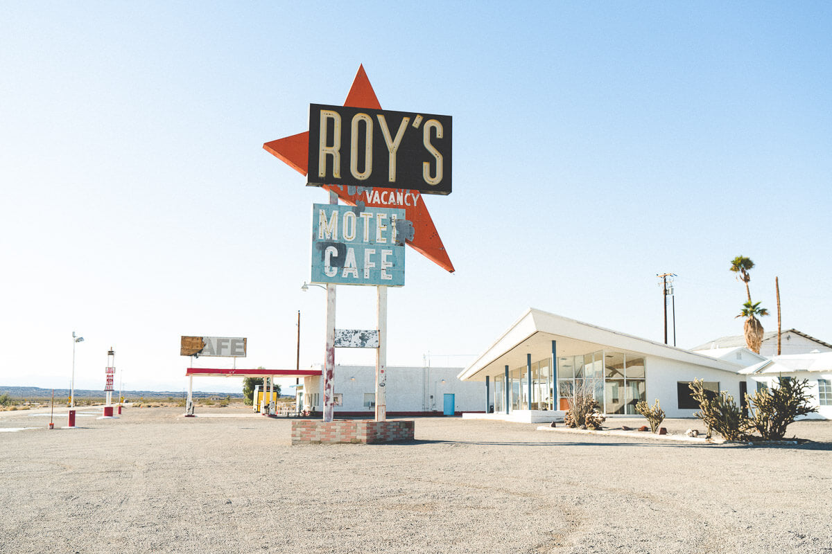 Route 66 Attractions: Roy's Cafe, Amboy CA