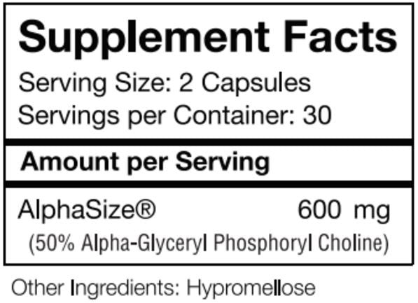 Alpha GPC (AlphaSize®)