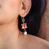 Paravati Lotus Earrings