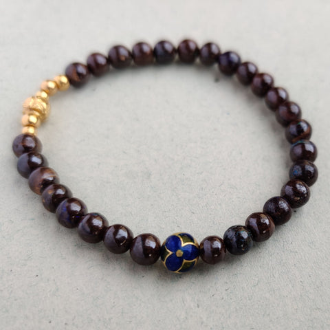 Boulder Opal & Bloom Bead Bracelet