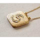 'Gilded Journey' Roya Initial Necklace 'S'
