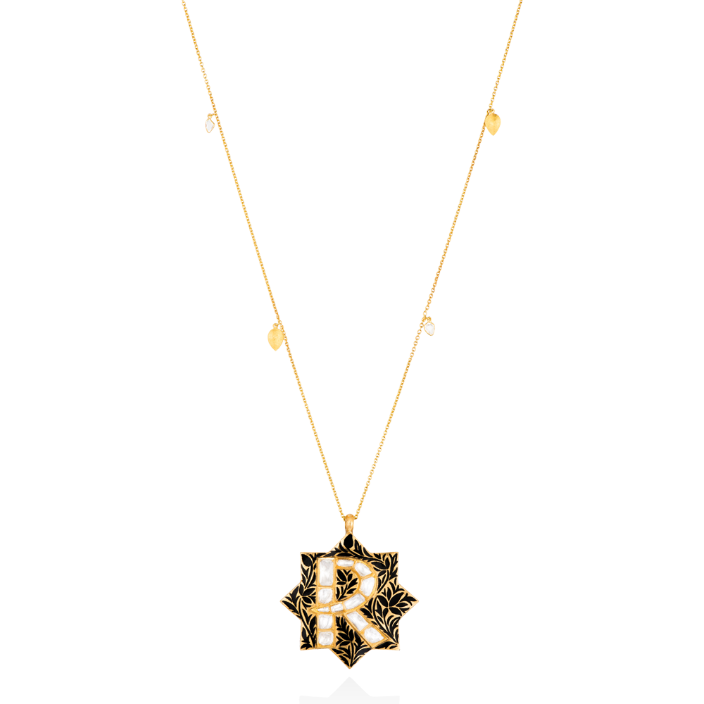 Silk Shadow Roya Initial Necklace