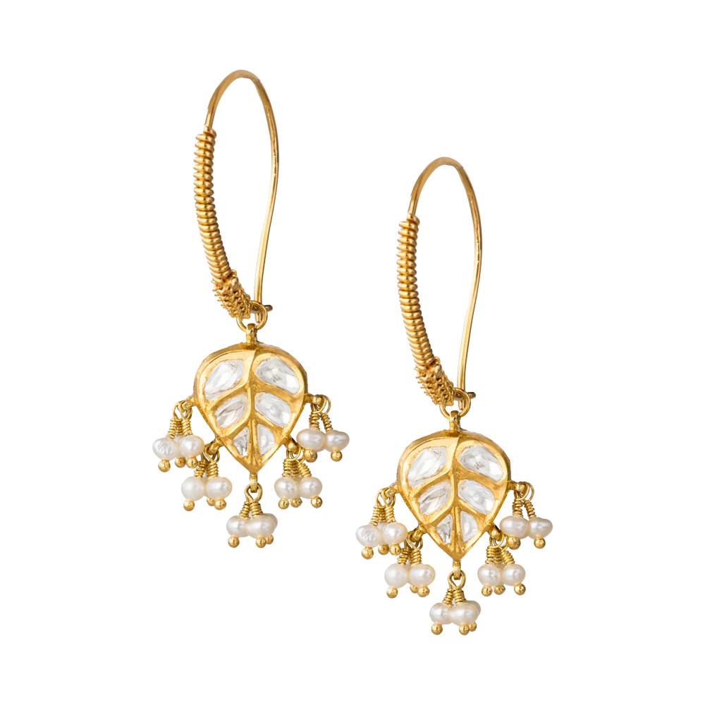 Dancing Peepal Earrings