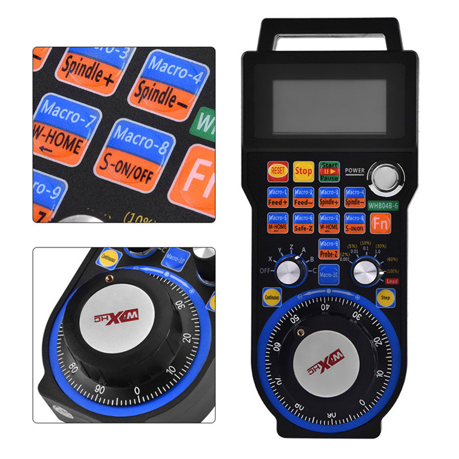 6-Axis CNC MACH3 Wireless Electronic Handwheel Manual Controller USB Handle MPG#