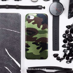 green_metallic_camo_iphone_case