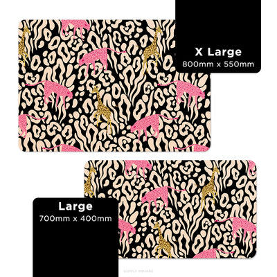 Black Pastel Safari Desk Mat - Supply Square