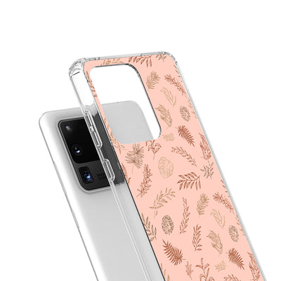 Boho Brown Leaves Galaxy Case