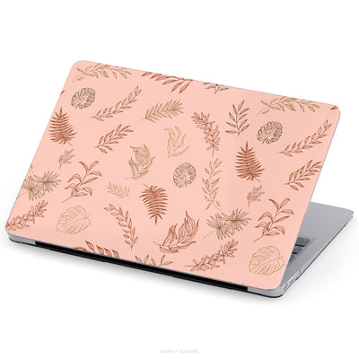 Boho Brown Leaves MacBook Case - Supply Square