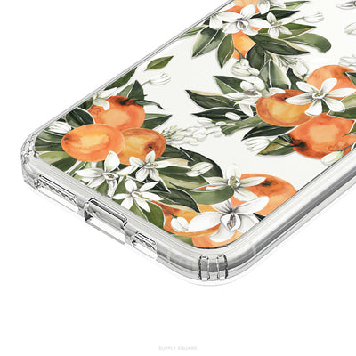 Clear Citrus Flowers iPhone Case - Supply Square