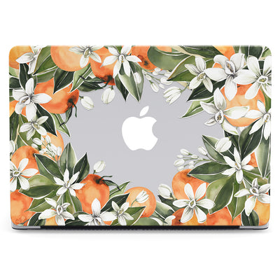 Clear Citrus Flowers MacBook Case - Supply Square