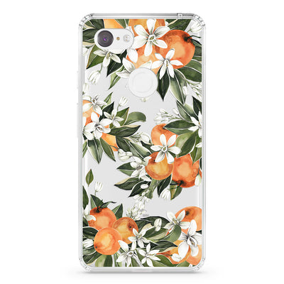 Clear Citrus Flowers Pixel Case - Supply Square