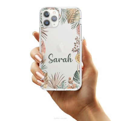 Clear Personalised Flowers iPhone Case, iPhone Case, Supply Square, Supply Square  - Supply Square