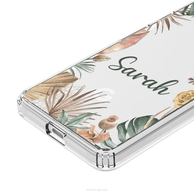 Clear Personalised Rustic Leaves Pixel Case - Supply Square