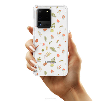Clear Delicate Leaves Galaxy Case - Supply Square