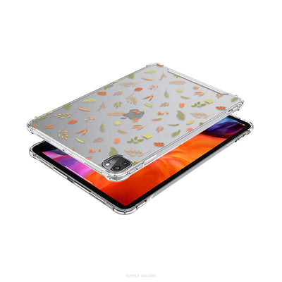Clear Delicate Leaves iPad Case - Supply Square