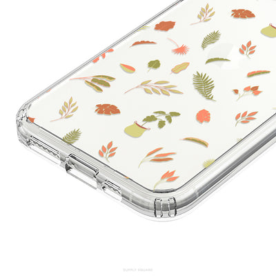 Clear Delicate Leaves iPhone Case - Supply Square
