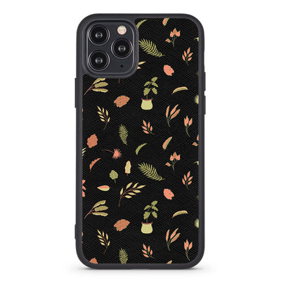 Delicate Leaves Vegan Leather iPhone Case - Supply Square