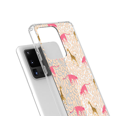 Clear Pastel Safari Galaxy Case - Supply Square