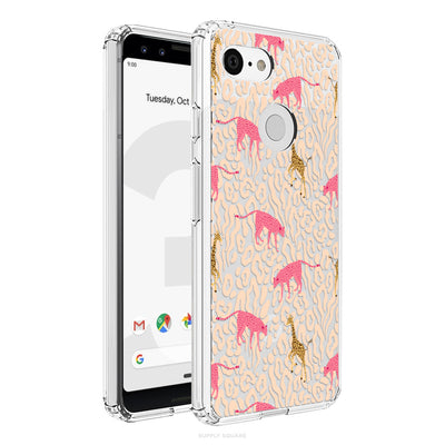 Clear Pastel Safari Pixel Case