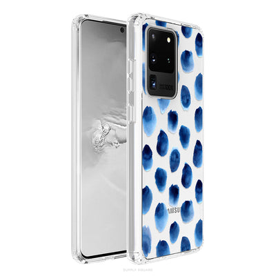 Clear Blue Polka Dots Galaxy Case - Supply Square
