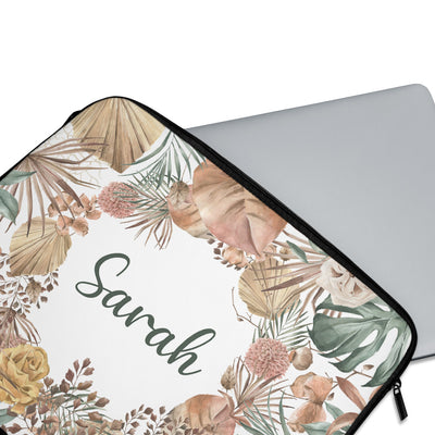 Personalised Rustic Leaves Laptop Sleeve - Supply Square