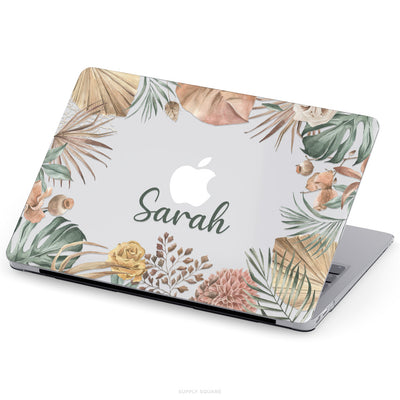 Clear Personalised Rustic Leaves MacBook Case - Supply Square