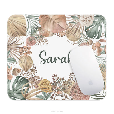 Personalised Rustic Leaves Mouse Pad - Supply Square