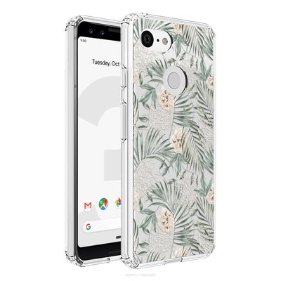 Clear Rustic Leaves Pixel Case - Supply Square