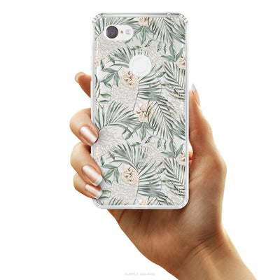 Clear Rustic Palms Pixel Case, Pixel Case, Supply Square, Supply Square  - Supply Square